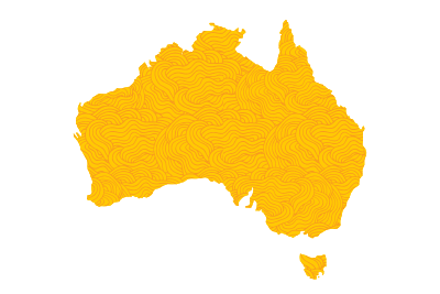 Orange map of Australia